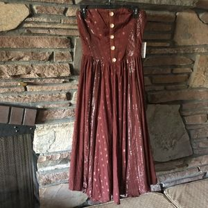 NWT Free People Amanda Strapless Midi Dress